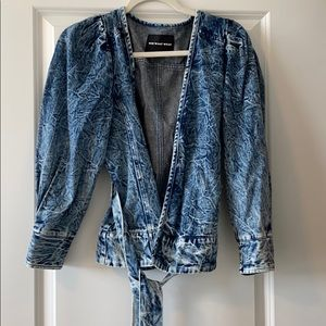 Who What Wear collection acid wash denim jacket